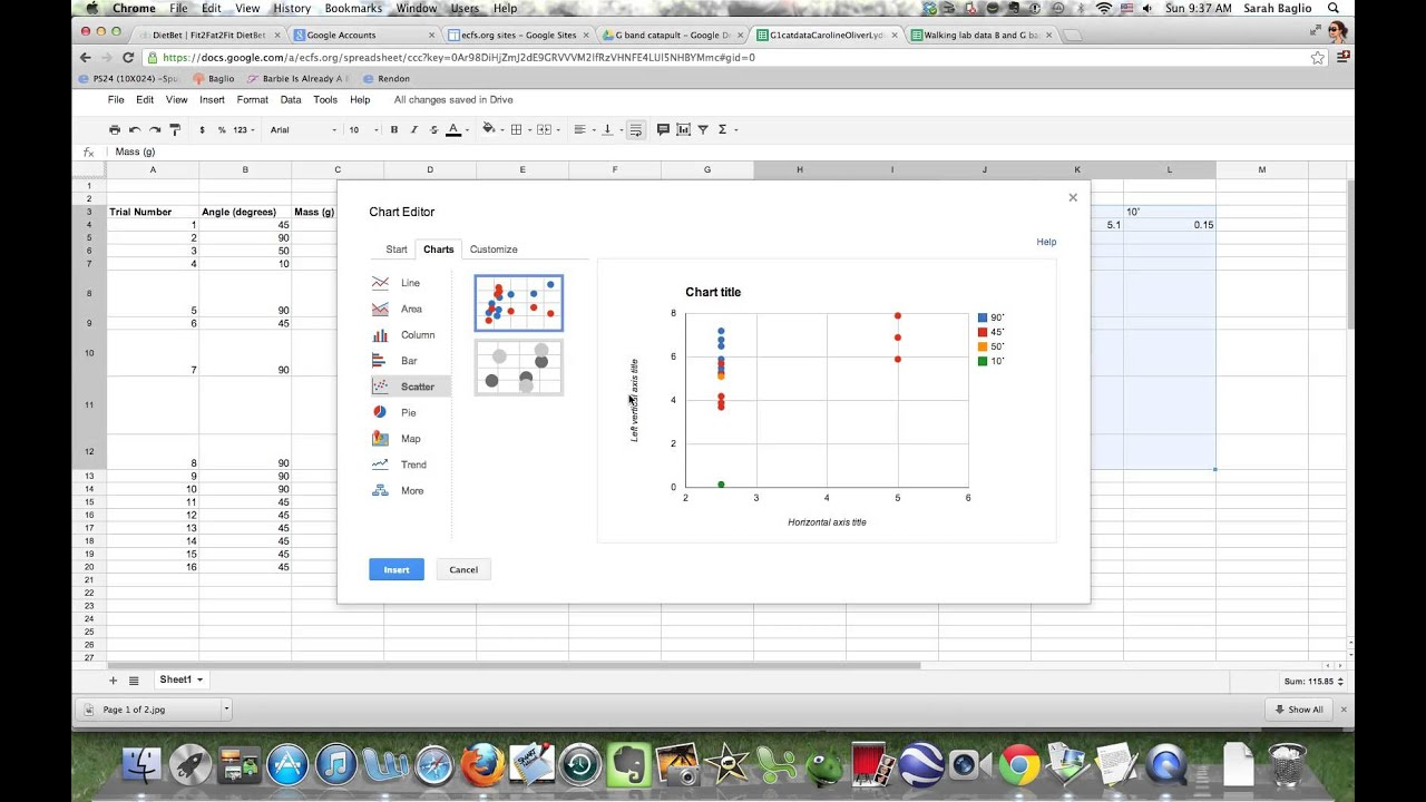 How to make a scatter plot in Google Spreadsheet - YouTube