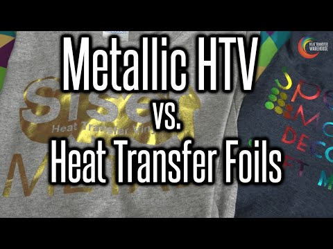 Metallic HTV vs. Heat Transfer Foils