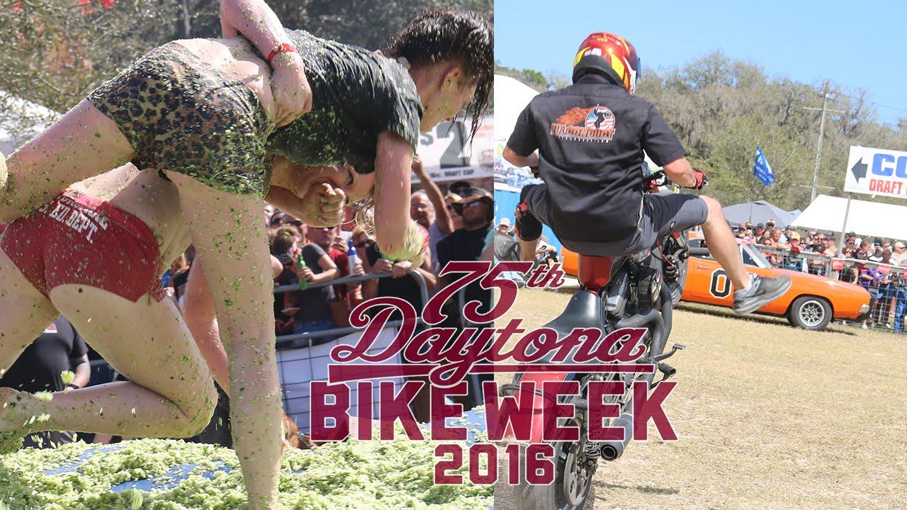 Coleslaw Wrestling Stunt Show Daytona Bike Week 2016 Youtube