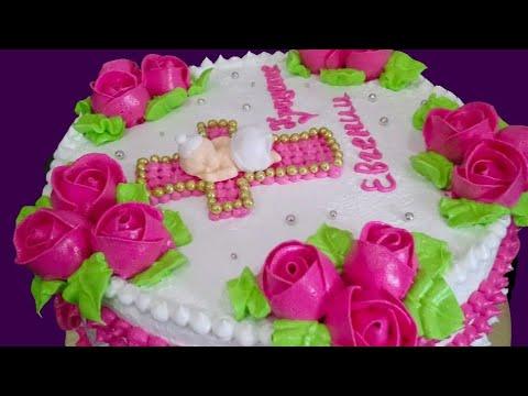 Торт для девочки на крещение . Наталья Торт Sweet Stories
