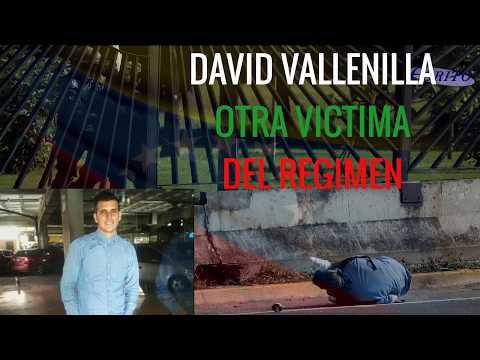 ¡COBARDES! otra víctima del régimen. DAVID VALLENILLA 22 de Junio 2017