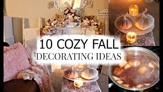 "🍁10 COZY FALL DECORATING IDEAS ""I LOVE FALL"" ep. 11 🍁"