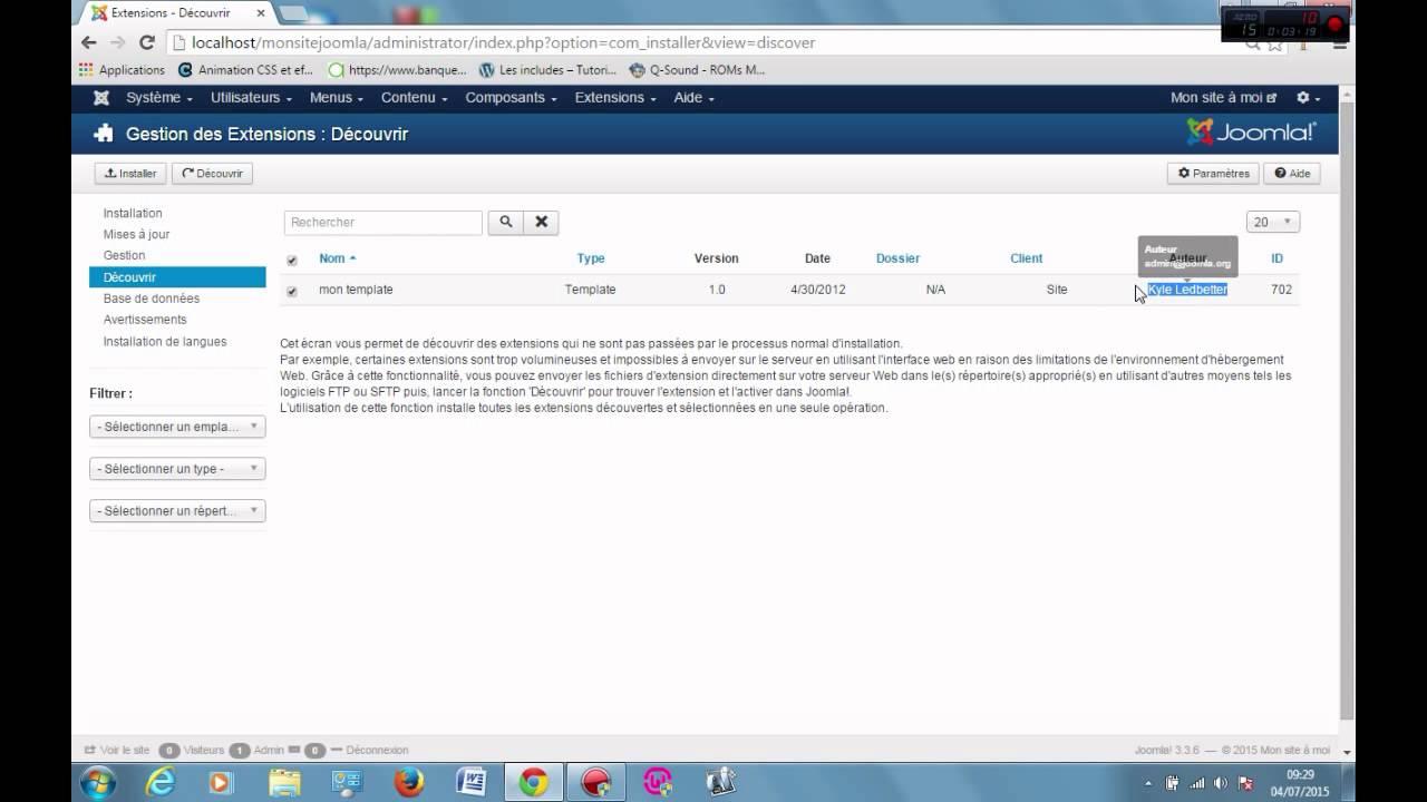 Download Installer votre template Joomla