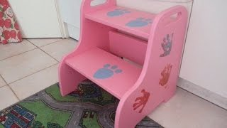 DIY. How to do. Wooden Step stool. Children furniture