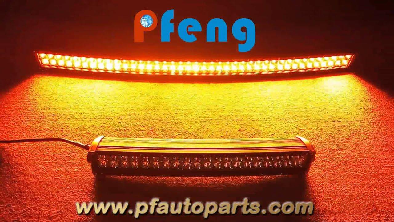 Curved amber white strobe led light bar youtube curved amber white strobe led light bar aloadofball Gallery