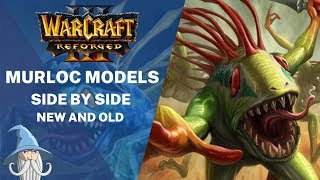New Murloc Models Side by Side with Old Models Warcraft 3 Reforged Beta Leak
