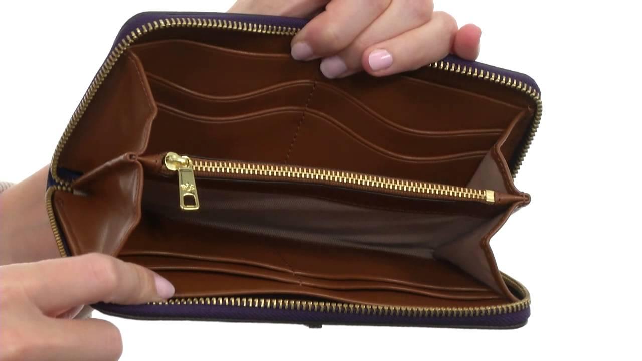 langlebig im einsatz kostengünstig akribische Färbeprozesse LAUREN by Ralph Lauren Aiden Leather Zip Wallet SKU:8494395