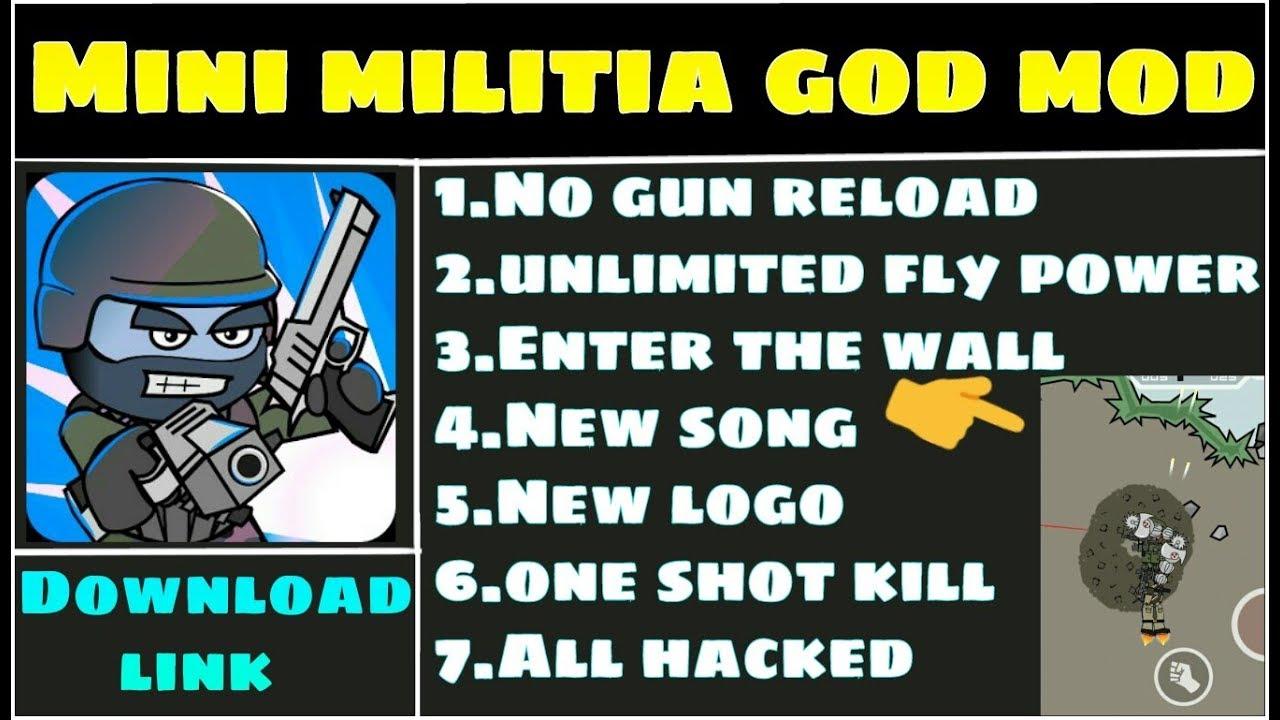 mini militia hack version apk download god mod