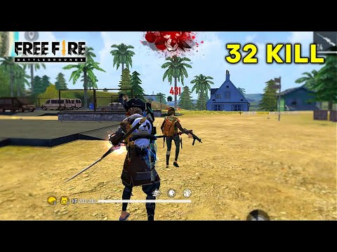 Solo 32 Kill Free Fire Best Pro Noob Gameplay - Garena Free Fire