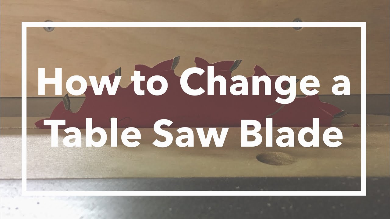 How to change a table saw blade youtube greentooth Image collections
