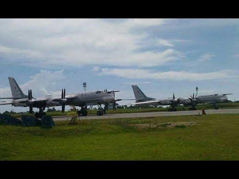 Momen Pendaratan Pembom Tu-95 Bear di Biak