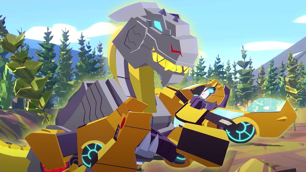 Dinosaurs T-Rex Razor Sharp Rescues! ⚡️Transformers Cyberverse Full Episodes