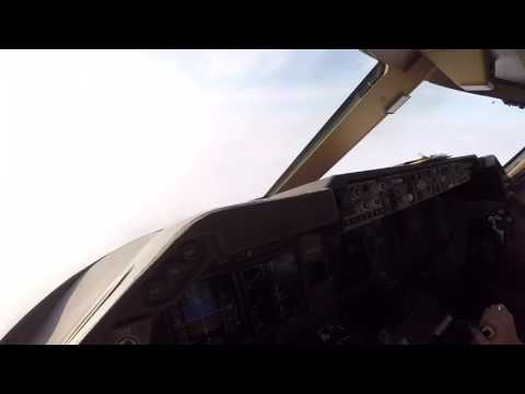 Landing at Bishkek airport in Kyrgyzstan with B747-8