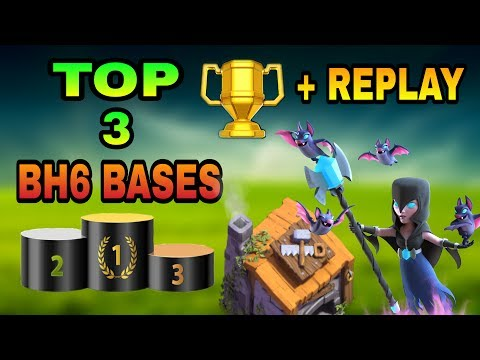 TOP 3 BUILDER HALL 6 ( BH 6 ) BEST BASES WITH REPLAY PROOF | BH6 TOP BASE DESIGNS | CLASH OF CLANS |