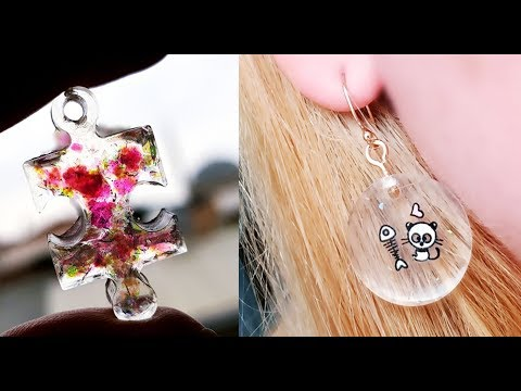 10 DIY JEWELRY MAKING WITH EPOXY RESIN / Earring, Bracelet, Necklace