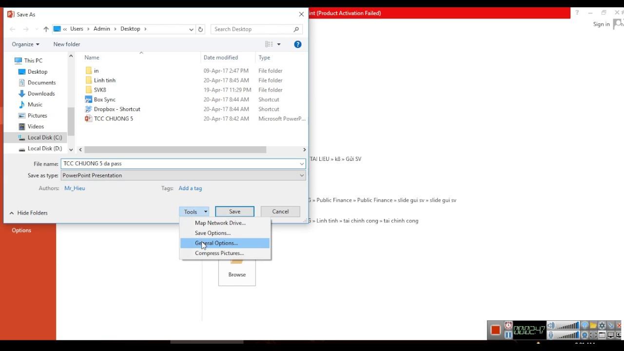 Cách đặt mật khẩu văn bản file word