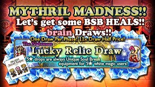 FFRK - Mythril Madness 160 - x11 Draw on White Mage Nightmare Lucky Draw (brain)