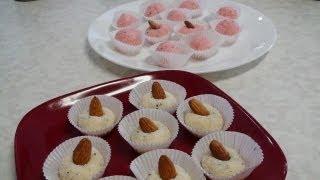 No Cook Coconut Burfi Recipe Video - Coconut Dessert By Bhavna