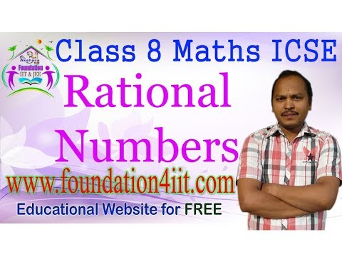 Class 8 Maths ICSE || Rational Numbers || Complete Syllabus ||