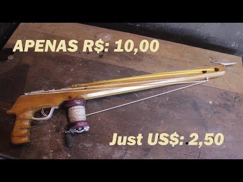 ARBALETE/ARPÃO FEITO COM APENAS 10 REAIS!