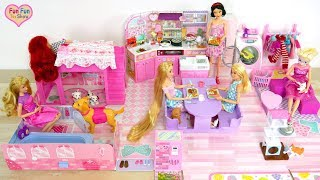 Barbie Japanese style Doll house Unboxing Rumah boneka Barbie Casa de boneca