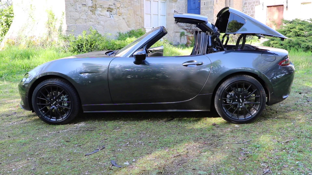 essai video mazda mx 5 rf skyactiv g 160 first edition youtube. Black Bedroom Furniture Sets. Home Design Ideas