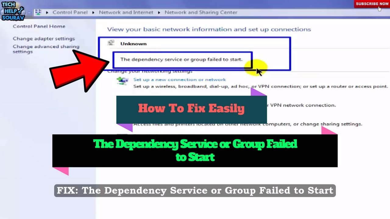 The Dependency Service or Group Failed to Start - How To Fix Easily