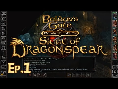 Baldur's Gate: Siege Of Dragonspear Ep. 1 - Reunions - Let's Play Gameplay Walkthrough