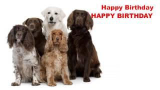 Happy Birthday   Dogs Perros - Happy Birthday
