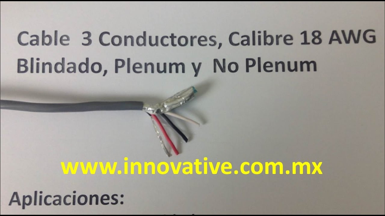 Cable 3 Conductores x 18 AWG Blindado - YouTube
