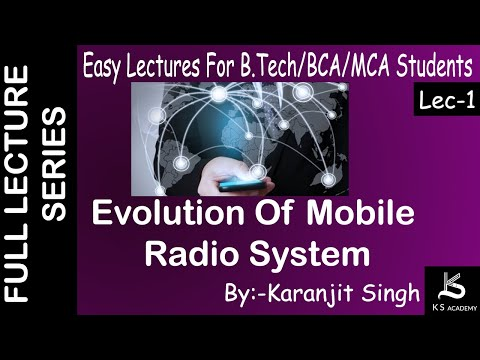 Evolution Of Mobile Radio System||Wireless Communication||BTech||Lect 1