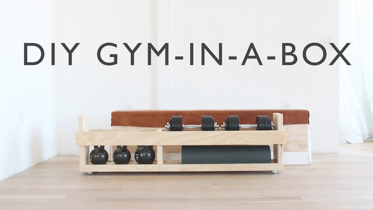 Diy home gym in a box youtube