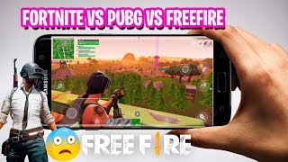 Fortnite vs Pubg Mobile vs FreeFire Samsung Galaxy s7 edge Which is Best on Android?