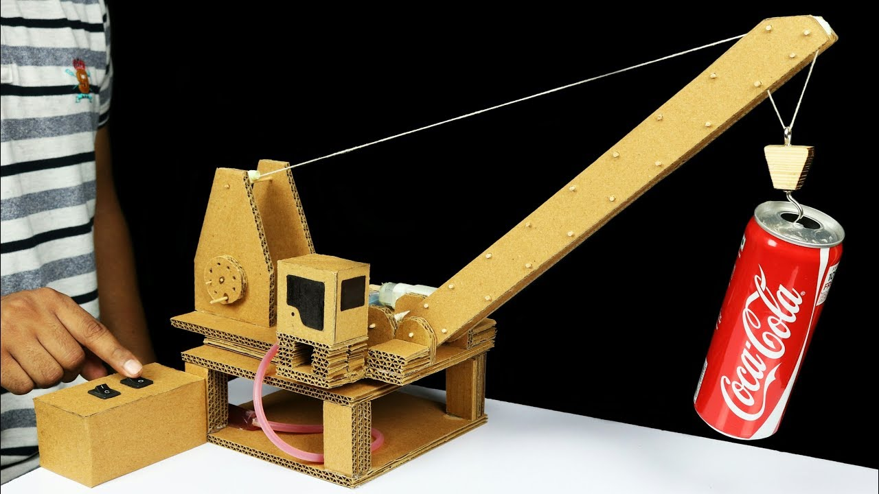 How to make remote control hydraulic crane from cardboard for What do u need to build a house