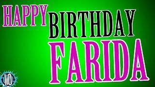 Doğum günün kutlu olsun Farida Kutlamak için 10 saat müzik ve animasyon Doğumgünü Farida