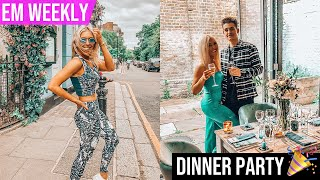 HOSTING MY FIRST DINNER PARTY AT MY HOUSE IN LONDON 🎉 + Lifehouse Spa Trip 👙 | Em Sheldon Vlogs