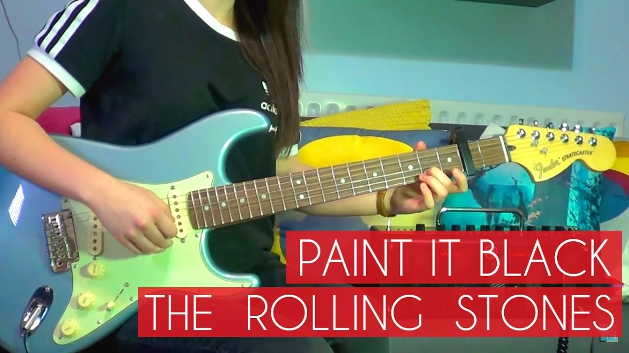 The rolling stones paint it black guitar cover 158 for The rolling stones paint it black