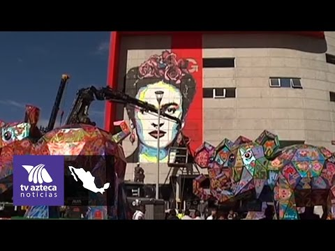 Dan últimos trazos al mural de Frida Kahlo en Ecatepec | Azteca Edomex