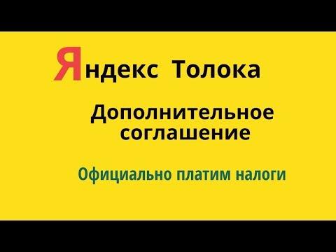 Яндекс Толока. Дополнительное соглашение