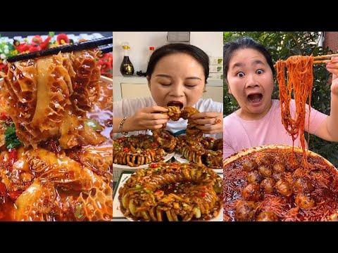 Collection of Challenges to Eat Spicy Food - Tik Tok China | Măm Măm Cùng Chị Đẹp NiuNiu #002
