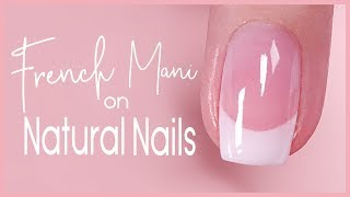 ✨Dip French Tip Tutorial on Natural Nail 💅🏽