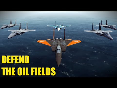 Reapers Prevent Air Incursion Into Oil Fields | F-15 Su-27 | DCS