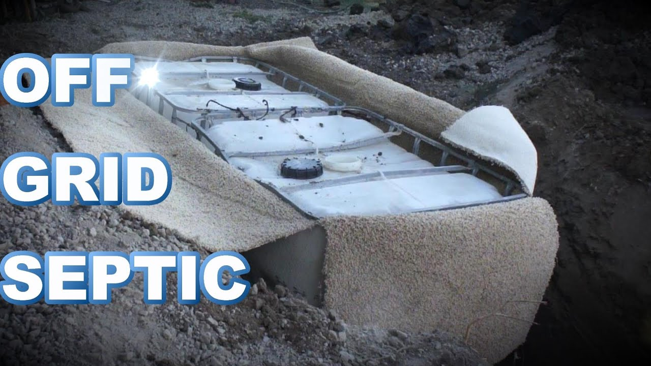 OFF GRID septic using totes - YouTube