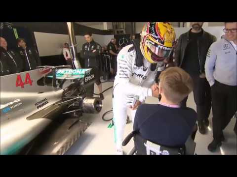 F1 2017 British GP - Billy Monger Inspiration to Lewis Hamilton