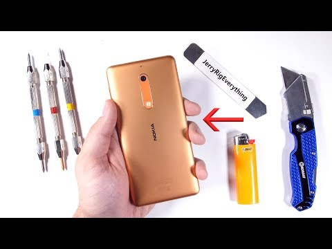 Nokia 5 Durability Test! - Scratch BURN and BEND tested!