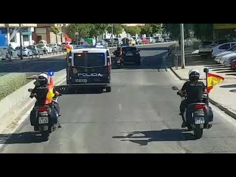 Despedida a policías de la UPR de Córdoba enviados a Cataluña.