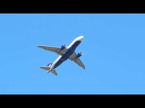 US Airways A320 Takeoff Detroit Metro
