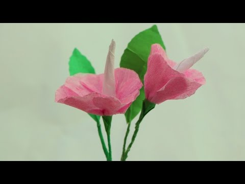 How to make origami paper flowers  Crepe paper flowers making for beginners tutorial