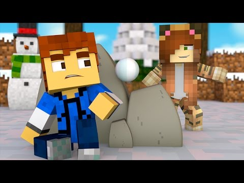 Minecraft Daycare -  SNOWBALL FIGHT !?
