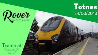 Trains at Totnes, GWML - 24/3/18